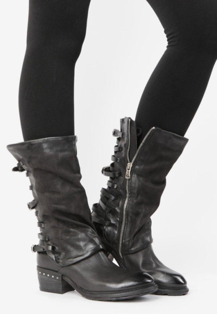A.S.98 - Cowboy/biker ankle boot - black