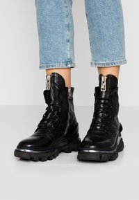 A.S.98 - Cowboy/biker ankle boot - nero - 0