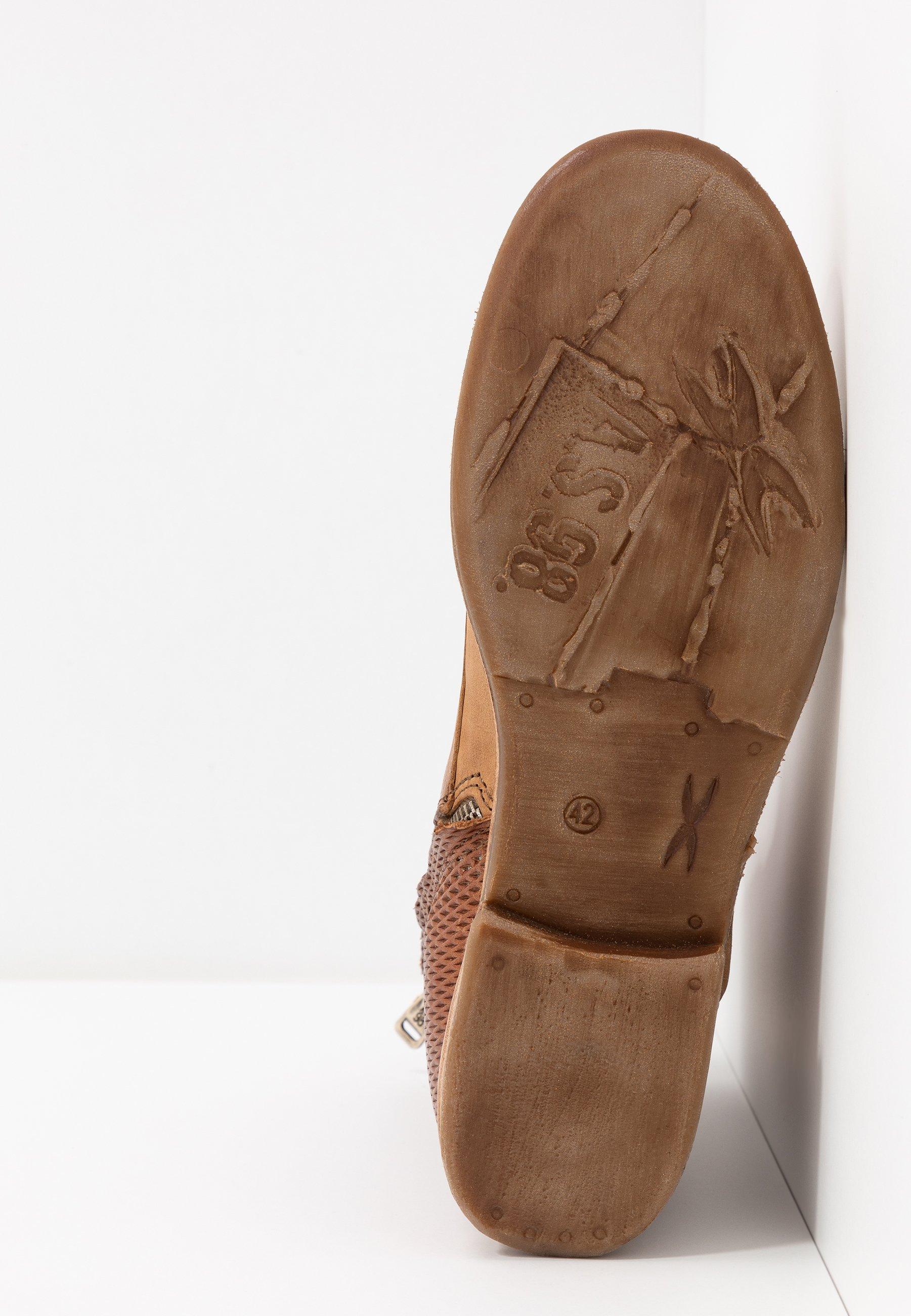 A.S.98 Lace-up ankle boots - cognac