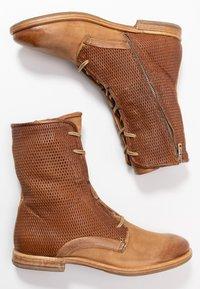 A.S.98 - Šněrovací kotníkové boty - cognac - 3