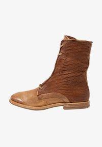 A.S.98 - Šněrovací kotníkové boty - cognac - 1