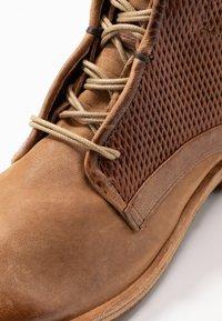 A.S.98 - Šněrovací kotníkové boty - cognac - 2