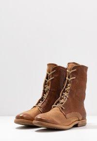 A.S.98 - Šněrovací kotníkové boty - cognac - 4