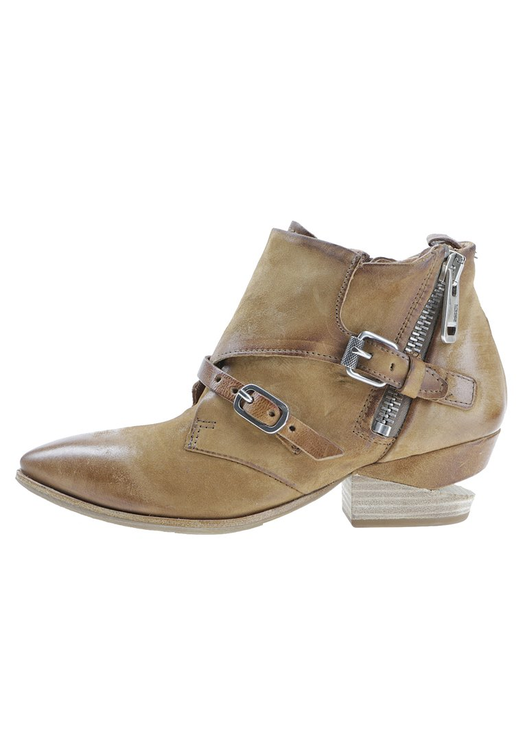 A.S.98 Cowboy/biker ankle boot - brown