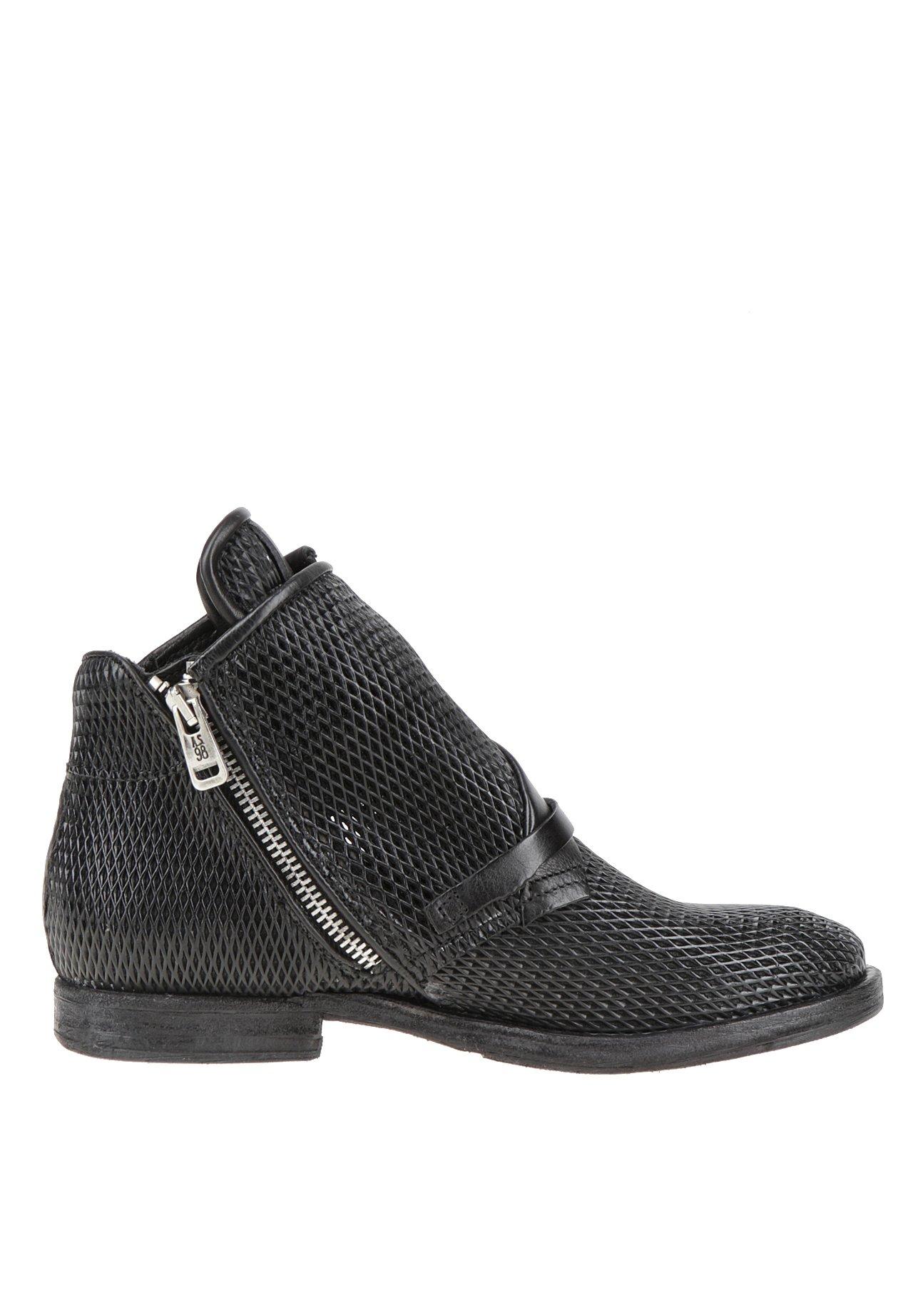 A.S.98 Cowboy/biker ankle boot - black