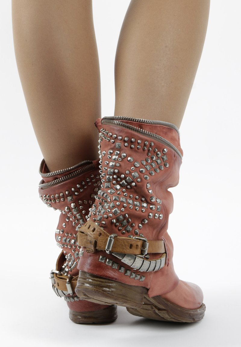 A.S.98 - Cowboy/biker ankle boot - red