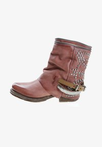A.S.98 - Cowboy/biker ankle boot - red - 1