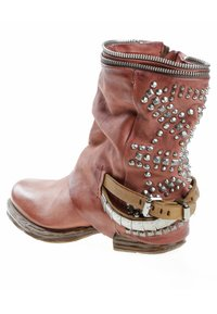 A.S.98 - Cowboy/biker ankle boot - red - 3