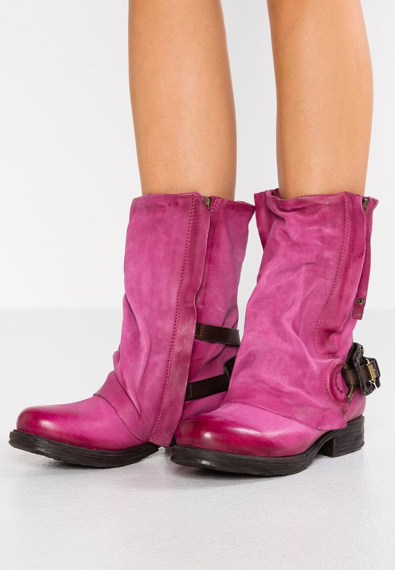 A.S.98 - Cowboy/Biker boots - azalea