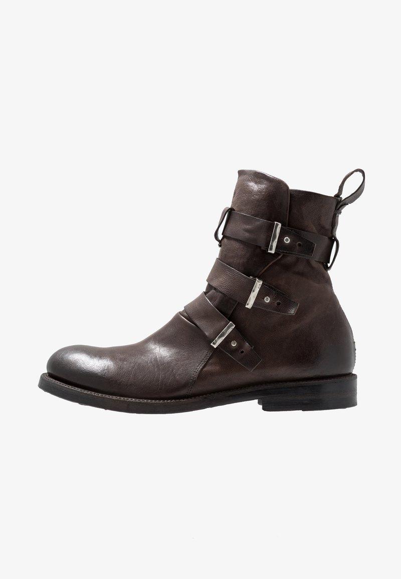 A.S.98 - SAMURAI - Cowboy/biker ankle boot - fondente