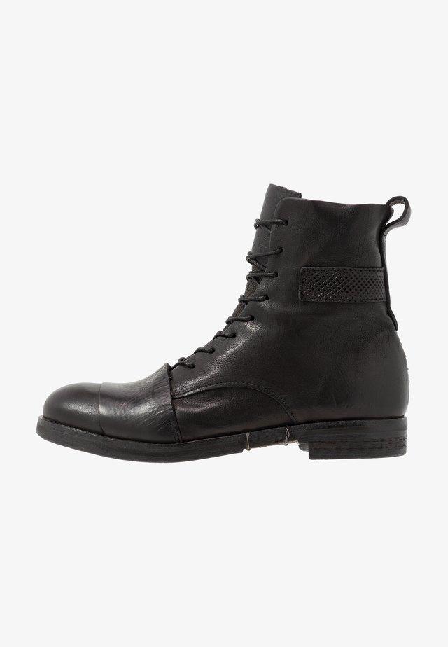 ACTON - Šněrovací kotníkové boty - nero