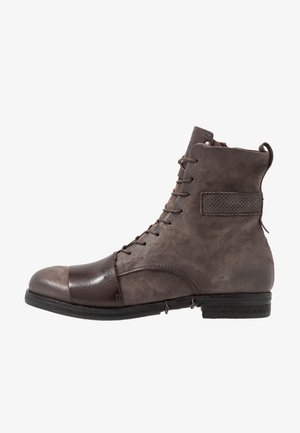 ACTON - Lace-up ankle boots - smoke