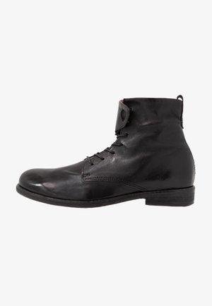 TRY - Šněrovací kotníkové boty - nero