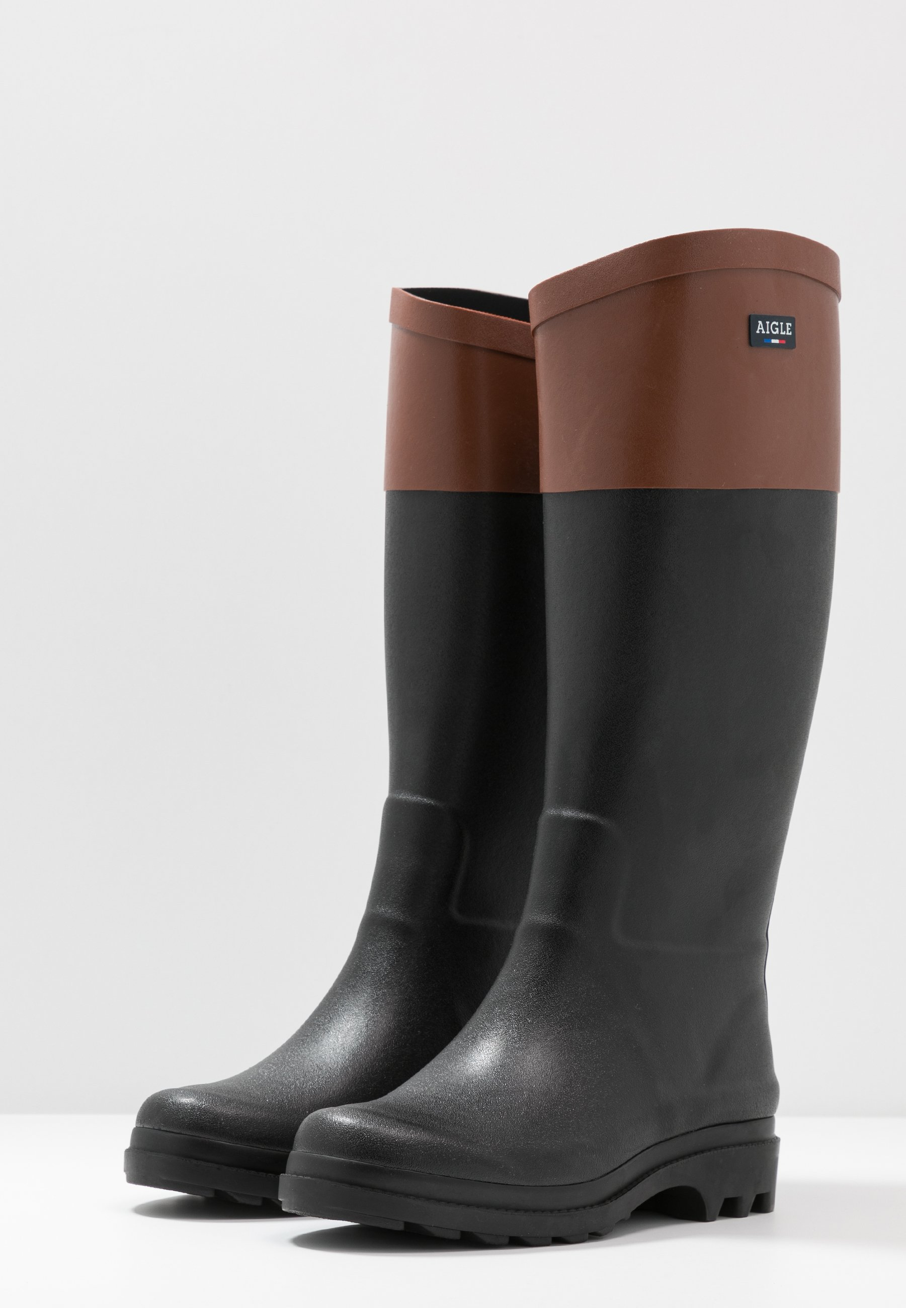 Aigle AIGLENTINE BLOCK - Gummistøvler - noir/ambre