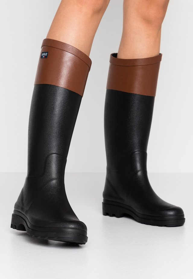 AIGLENTINE BLOCK - Wellies - noir/ambre