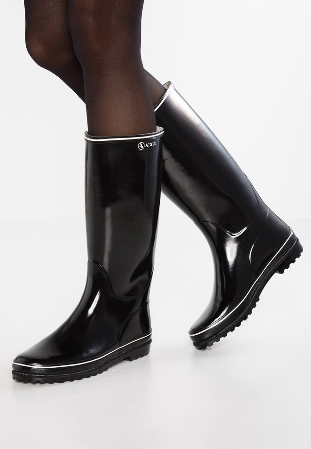 VENISE - Wellies - noir/blanc