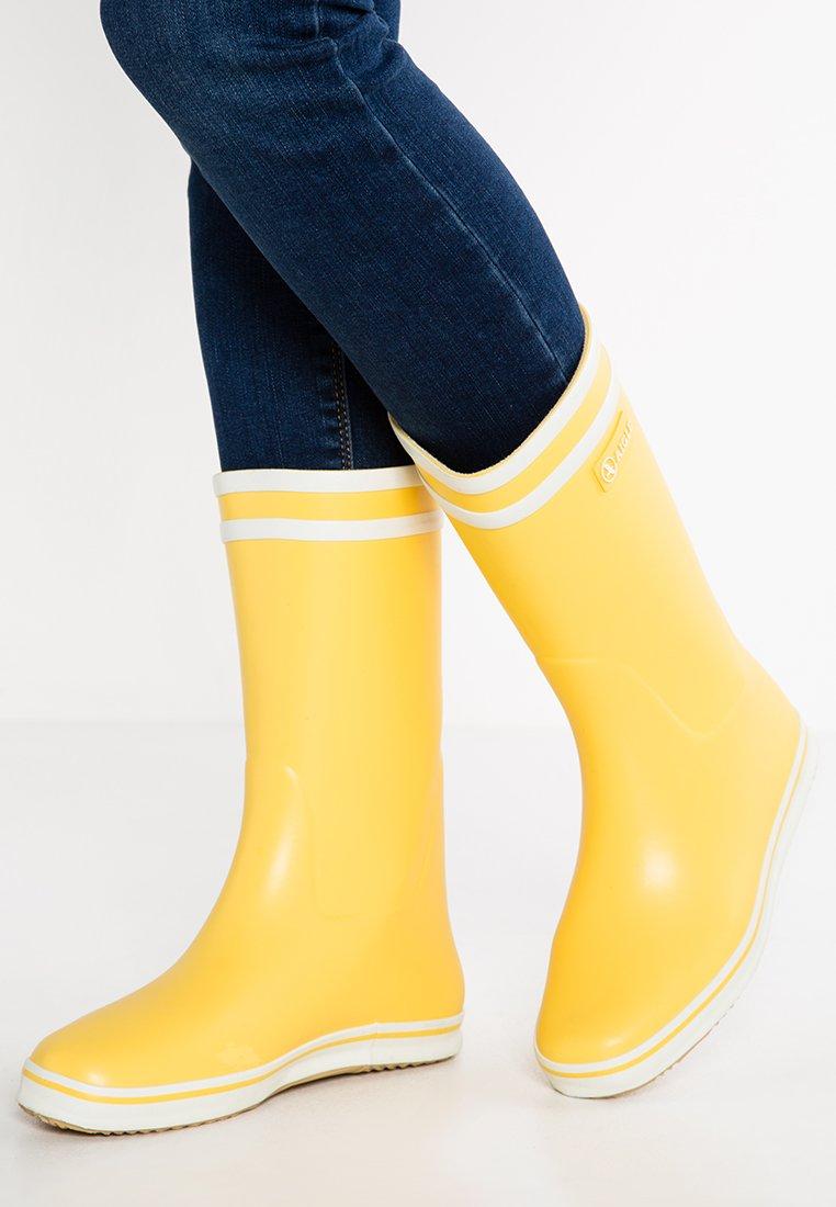 MALOUINE Bottes en caoutchouc jaune