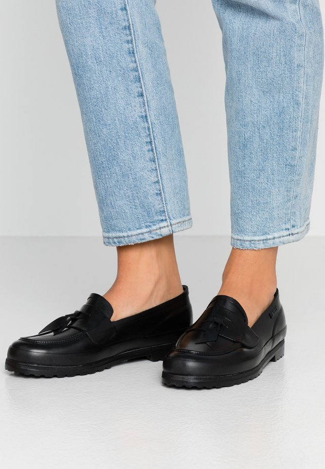 RAINY LOAFER - Slip-ons - black