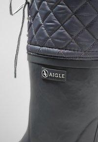 Aigle - POLKA GIBOULÉE - Bottes en caoutchouc - asphalt metal - 2