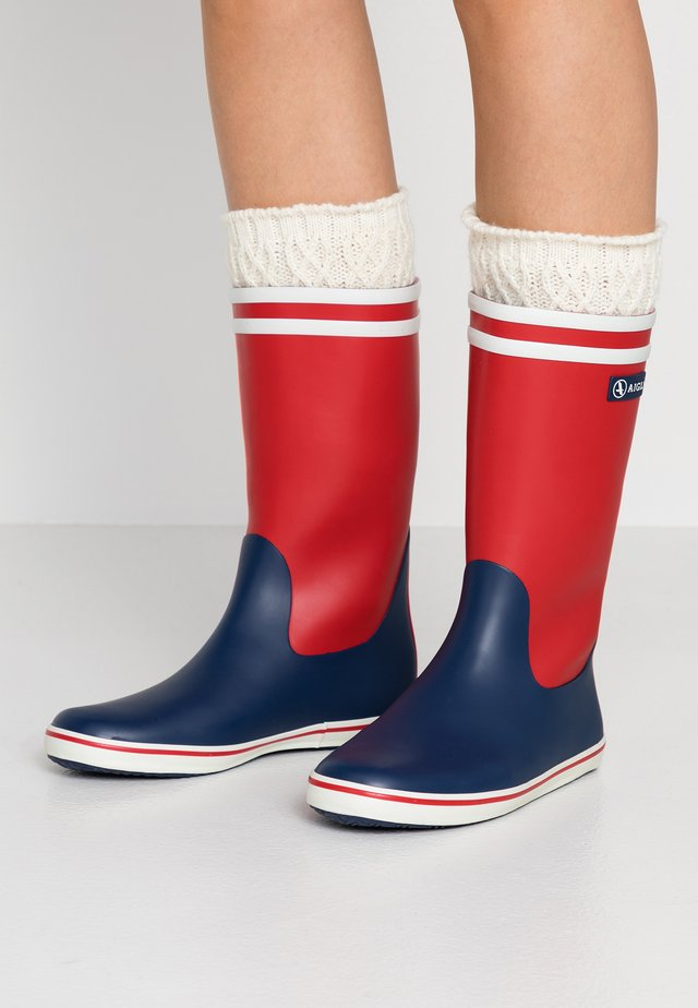 MALOUINE COLOR BLOCK - Wellies - rouge/indgo/blanc