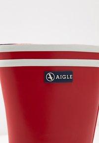 Aigle - MALOUINE COLOR BLOCK - Bottes en caoutchouc - rouge/indgo/blanc - 2