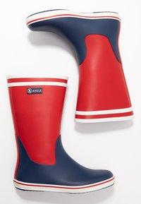 Aigle - MALOUINE COLOR BLOCK - Bottes en caoutchouc - rouge/indgo/blanc - 3