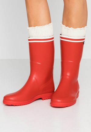 CHANTEBOOT STRIPES - Wellies - rouge