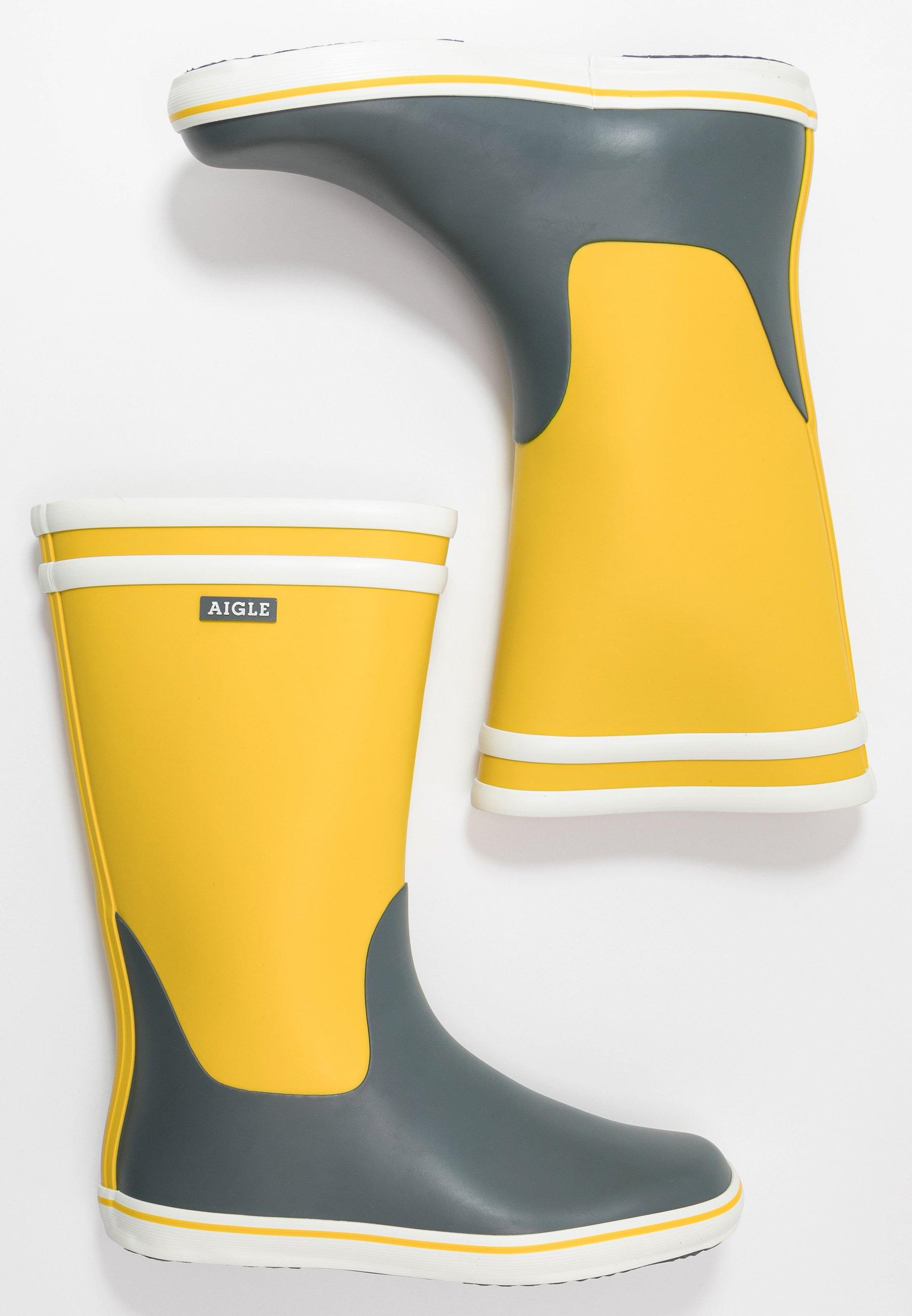 Aigle Malouine Color Block - Gummistövlar Lemony/urban