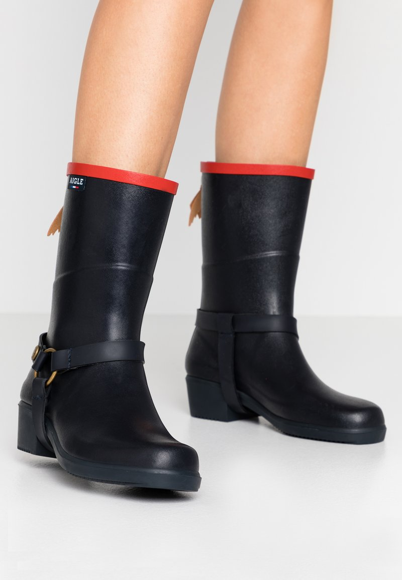 Aigle - MISS JULIE  - Wellies - marine/rouge