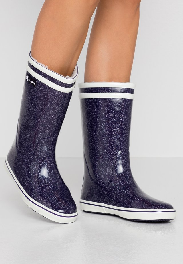 MALOUINE - Wellies - darkpurple/glitter