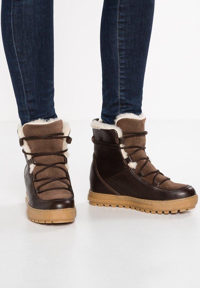 LAPONWARM - Winter boots - chocolat