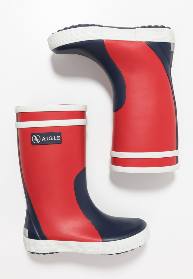 LOLLY POP COLOR BLOCK - Wellies - rouge/marine/blanc