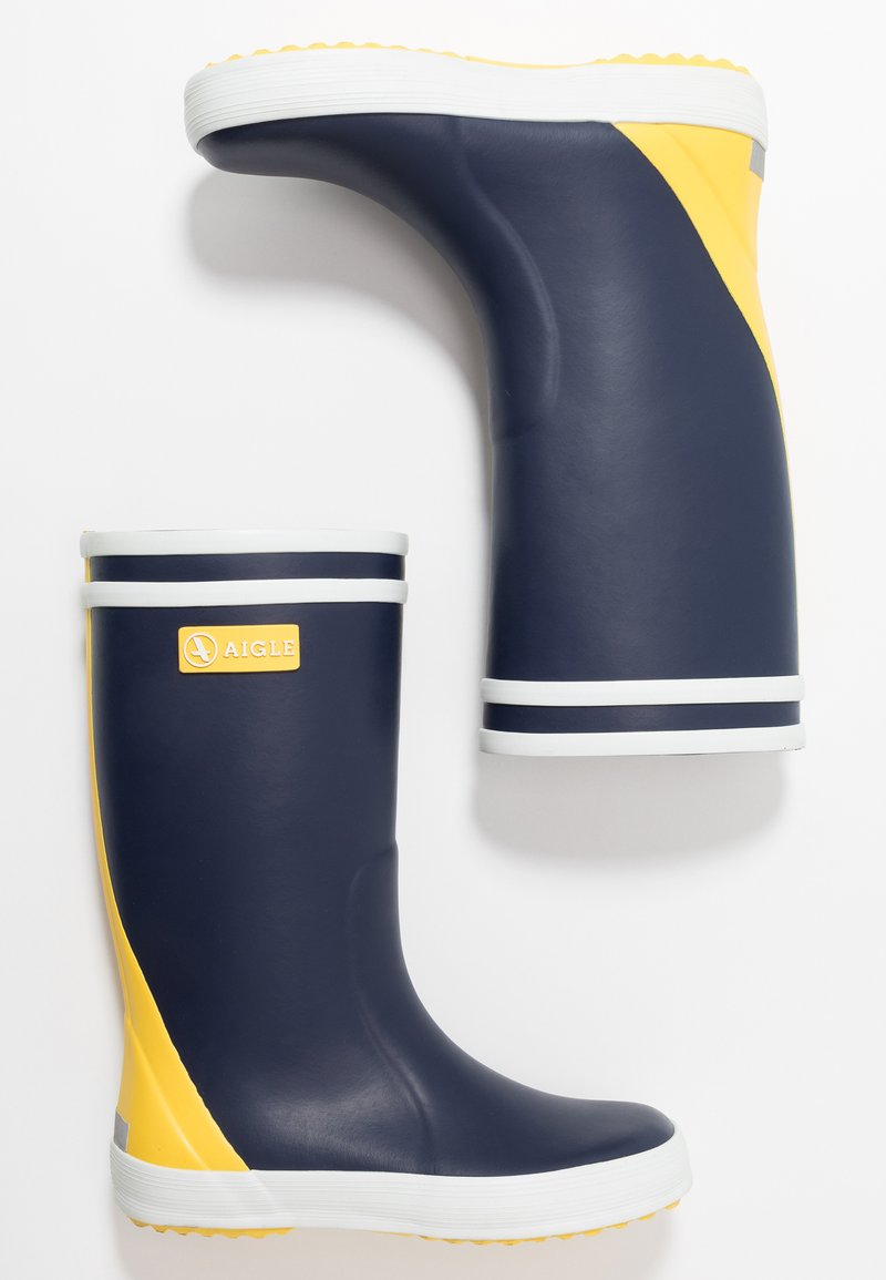 Aigle - LOLLY POP COLOR BLOCK - Bottes en caoutchouc - indigo/jaune/blanc