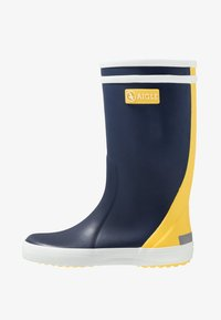 Aigle - LOLLY POP COLOR BLOCK - Bottes en caoutchouc - indigo/jaune/blanc - 1