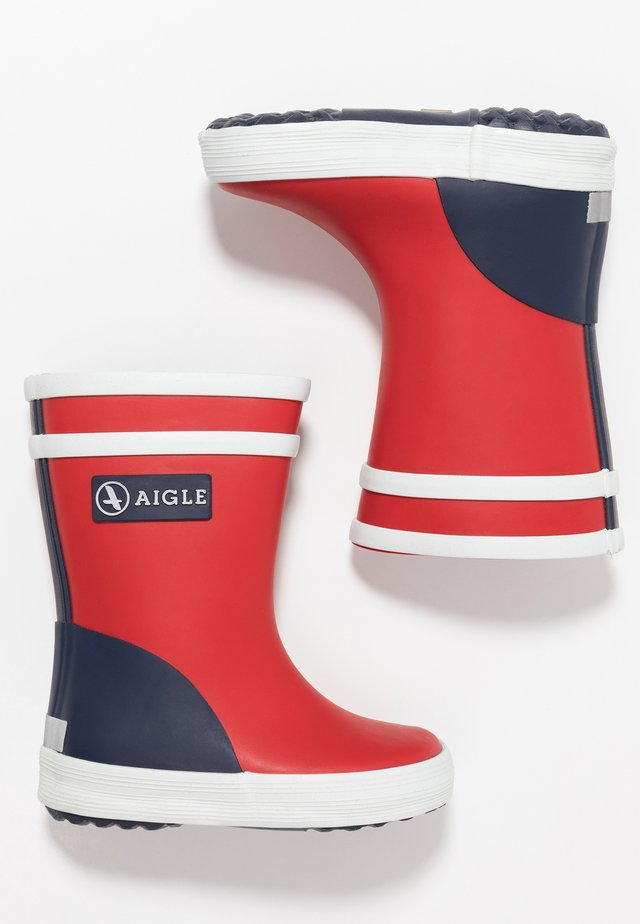 BABY FLAC BLOCK - Wellies - rouge/marine/blanc