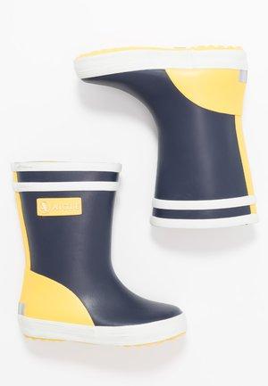 BABY FLAC BLOCK - Bottes en caoutchouc - indigo/jaune/blanc