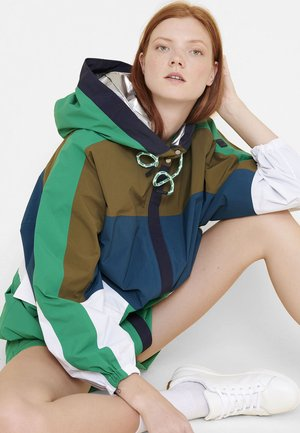 COSTUS - Waterproof jacket - green/white