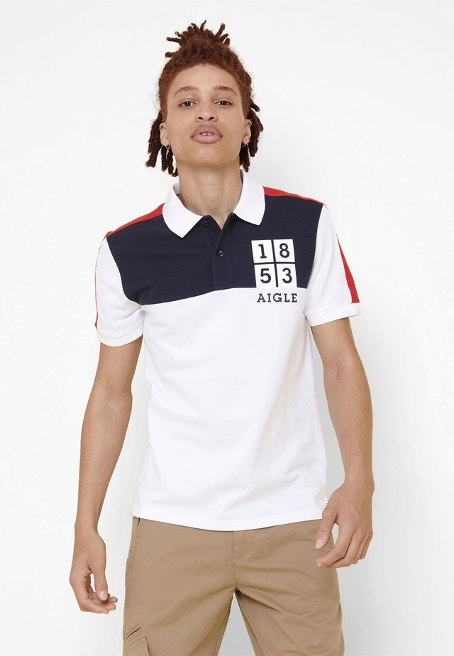 TIMERORY - Polo - white/navy