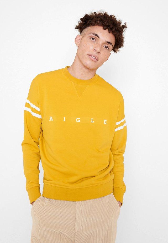 WANDRI - Sweatshirt - yellow/white