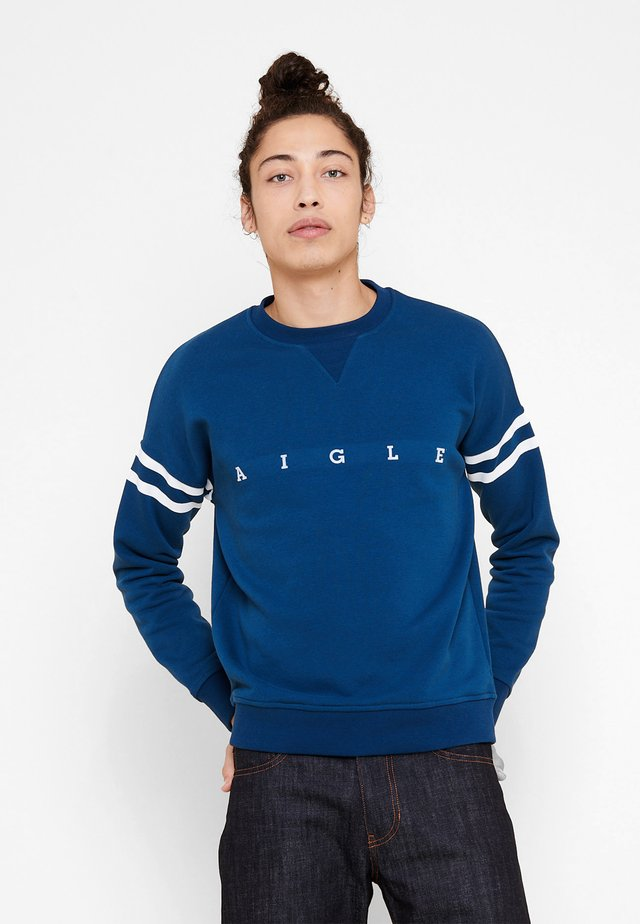 WANDRI - Sweatshirt - blue/white