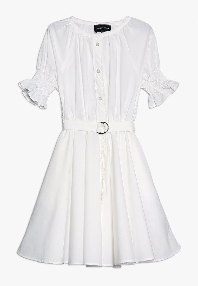 Emporio Armani - DRESS - Skjortklänning - bianco