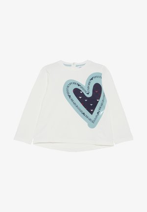 LONGSLEEVE HEART - Long sleeved top - bianco