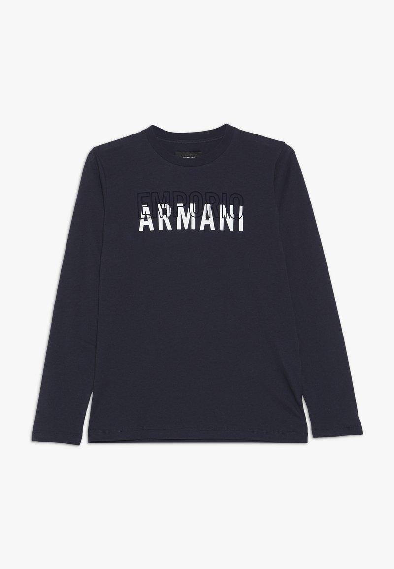 Emporio Armani - Top sdlouhým rukávem - blu navy