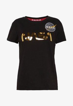 NASA - T-shirts med print - black/gold