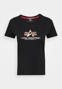 Alpha Industries - NEW FOIL - T-shirt print - black/gold - 4