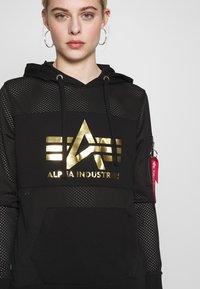 Alpha Industries - HOODY - Luvtröja - black - 6