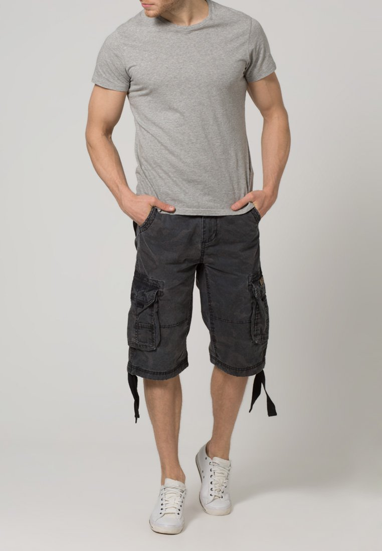 Alpha Industries - JET - Cargo trousers - black camo
