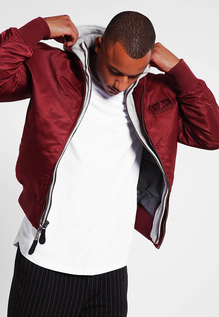 Alpha Industries - Giubbotto Bomber - burgundy