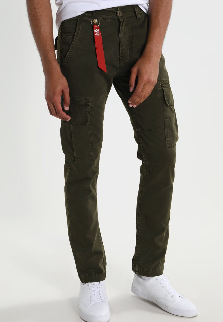 Alpha Industries - AGENT - Pantalon cargo - black oliv