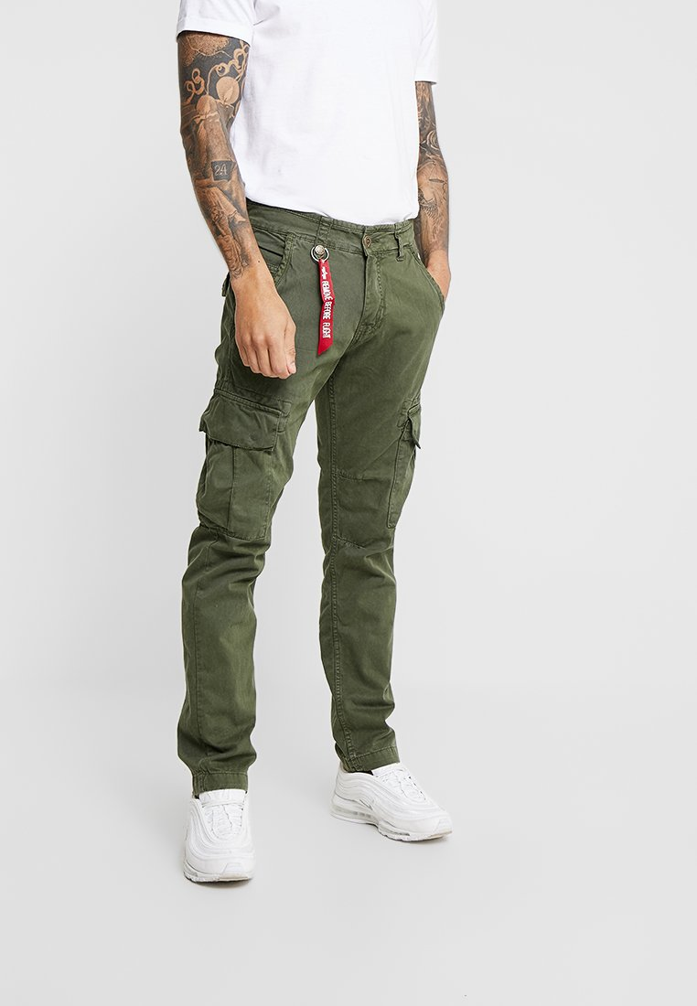 Alpha Industries - AGENT - Cargo trousers - dark oliv